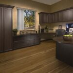 Chocolate Pear Recessed Panel Office with Trim Molding